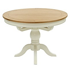 Willis & Gambier - Oak top 'Newquay' round extending dining table