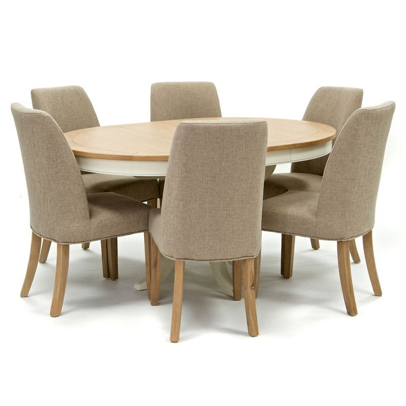 Willis and Gambier Oak top Newquay round extending dining