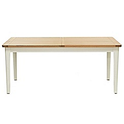 Willis & Gambier - Oak top 'Newquay' large extending dining table