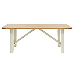 Willis & Gambier - Oak top 'Newquay' trestle dining table