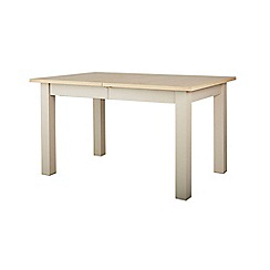 Corndell - Cream painted oak 'Marlow' extending dining table