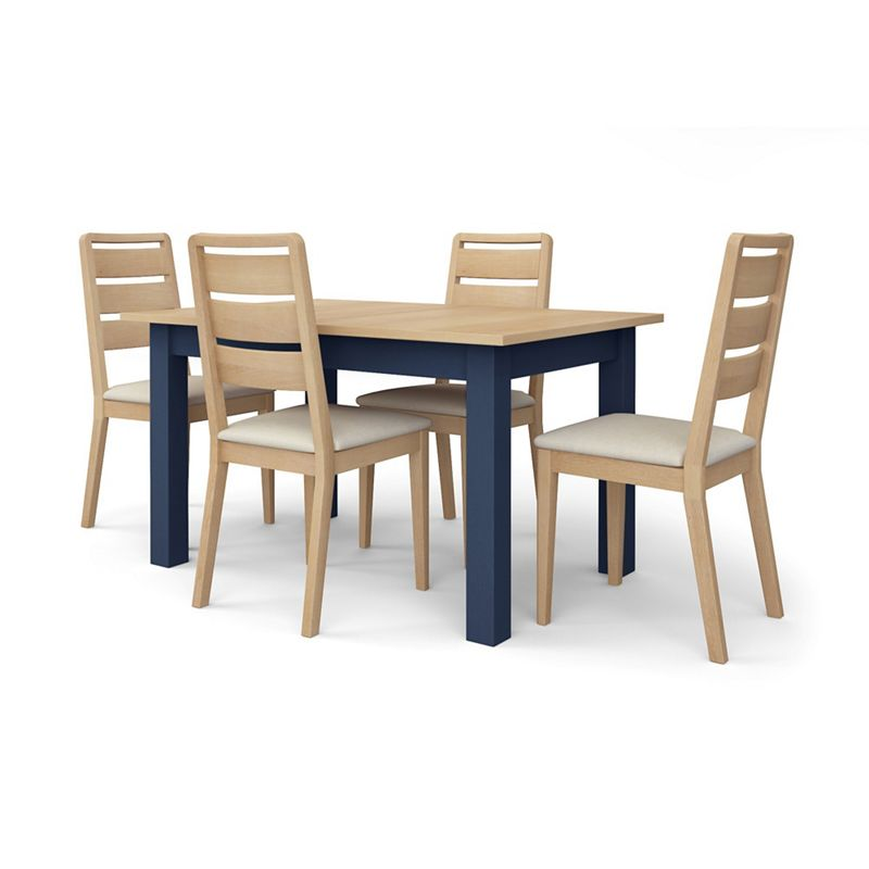 Corndell - Dark Blue 'Marlow' Dining Table And 4 Chairs Set
