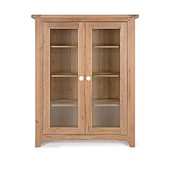 Willis & Gambier - Oak 'Worcester' glazed display cabinet