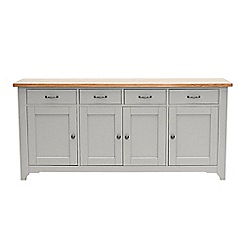 Willis & Gambier - White-washed oak and painted 'Worcester' extra-large sideboard