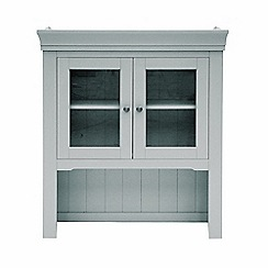 Willis & Gambier - Grey painted 'Worcester' glazed shelving unit