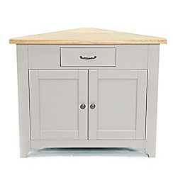 Willis & Gambier - Oak and painted 'Worcester' corner cupboard