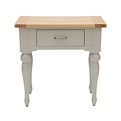 Willis & Gambier - White-washed oak and painted 'Worcester' hallway table