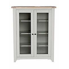 Willis & Gambier - White-washed oak and painted 'Worcester' glazed display cabinet