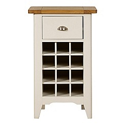 Debenhams - Oak and painted 'Wadebridge' small wine storage unit