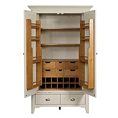 Debenhams - Oak and painted 'Wadebridge' larder storage unit