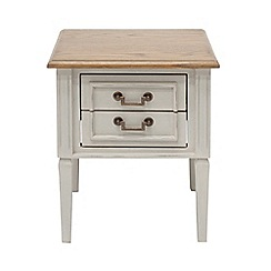 Willis & Gambier - Oak and painted 'Florence' side table with 2 drawers