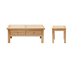 Willis & Gambier - Ash 'Denver' coffee and side table set