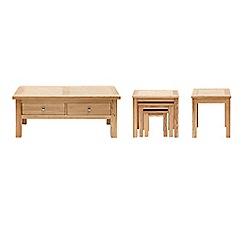 Willis & Gambier - Ash 'Denver' coffee, side and nest of tables set