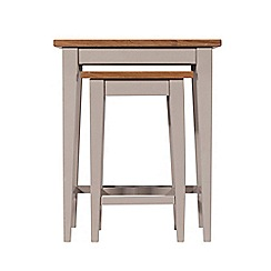 J by Jasper Conran - Oak and grey painted 'Farringdon' nest of 2 tables
