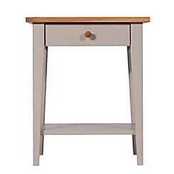 J by Jasper Conran - Oak and grey painted 'Farringdon' side table with single drawer