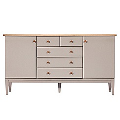 J by Jasper Conran - Oak and grey painted 'Farringdon' sideboard