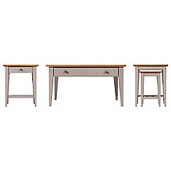 J by Jasper Conran - Oak and grey painted 'Farringdon' coffee, side and nest of tables set
