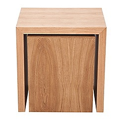 RJR.John Rocha - Oak 'Trinity' nest of 2 tables