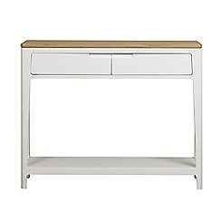 Debenhams - White-washed oak and painted 'Nord' console table