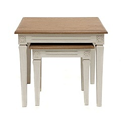 Willis & Gambier - Oak and painted 'Florence' nest of tables