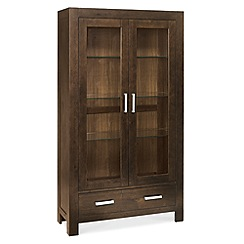 Debenhams - Walnut 'Lyon' display cabinet