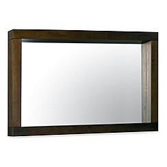 Debenhams - Walnut 'Lyon' mirror