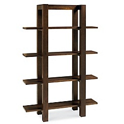 Debenhams - Walnut 'Lyon' open shelving unit