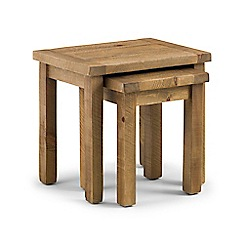 Debenhams - Pine 'Whistler' nest of 2 tables
