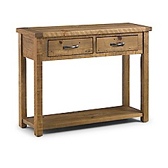 Debenhams - Pine 'Whistler' console table with 2 drawers
