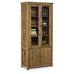 Debenhams - Pine 'Whistler' glazed display cabinet
