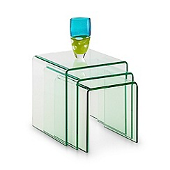 Debenhams - Glass 'Amalfi' nest of tables