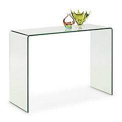 Debenhams - Glass 'Amalfi' console table