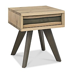 Debenhams - Oak 'Wayney' side table with drawer