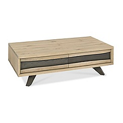 Debenhams - Oak 'Wayney' coffee table with drawers