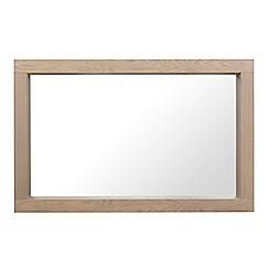 Debenhams - Oak 'Turin' wall mirror