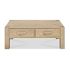Debenhams - Oak 'Turin' coffee table with drawers