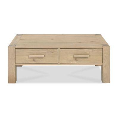 debenhams oak and painted 'wadebridge' coffee table with 2 drawers