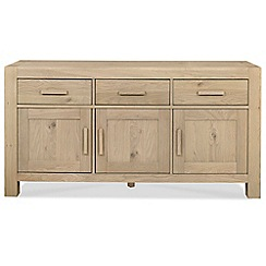 Debenhams - Oak 'Turin' wide sideboard