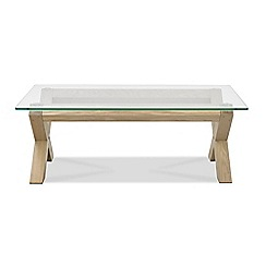 Debenhams - Oak and glass 'Turin' coffee table