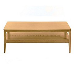 RJR.John Rocha - Oak 'Efni' light brown rectangular coffee table