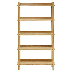 RJR.John Rocha - Oak 'Efni' light brown bookcase