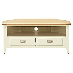 Willis & Gambier - Oak top 'Newquay' corner TV unit