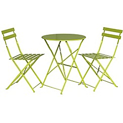 Debenhams - Green 'Padstow' folding bistro set