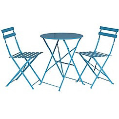 Debenhams - Blue 'Padstow' folding bistro set