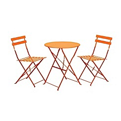 Debenhams - Orange 'Padstow' folding bistro set
