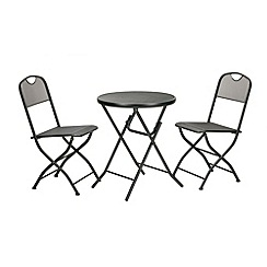Debenhams - Grey 'Espresso' folding bistro set