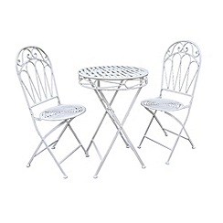 Debenhams - White 'Romance' folding bistro set