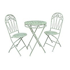 Debenhams - Green 'Romance' folding bistro set