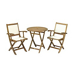 Debenhams - Acacia wood 'Henley' folding bistro set
