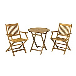 Debenhams - Acacia wood 'Manhattan' folding bistro set